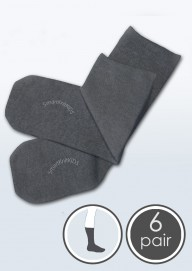 Absolutely Seamless Socks - SmartKnitKIDS ultimate comfort sock - Charcoal Grey - Value 6 Pack