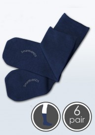 Absolutely Seamless Socks - SmartKnitKIDS ultimate comfort sock - Navy - Value 6 Pack
