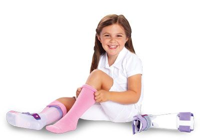 AFO Extra Long (Ankle Foot Orthosis) Interface Seamless Socks for children - sold in pairs