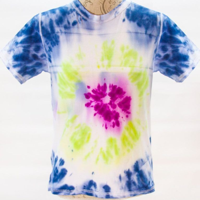 Autism Friendly Reversible Cotton Tee Bright On White Tie Dye Spectra Sensory Clothing From