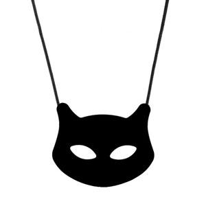 Cat Pendant - 'Salem' - (Black) Chewigem