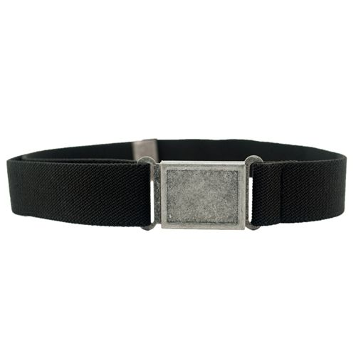 Dapper Snapper 'Big Kids'  Elasticated Boys Belt - Black - Easy Magnetic Clasp