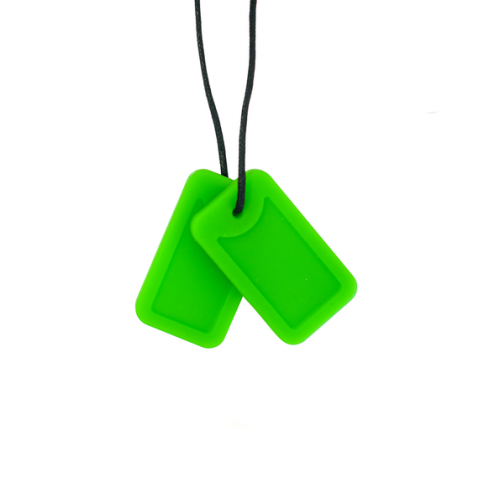 Dog Tag Necklace - 'Creeper' (Green) - Chewigem