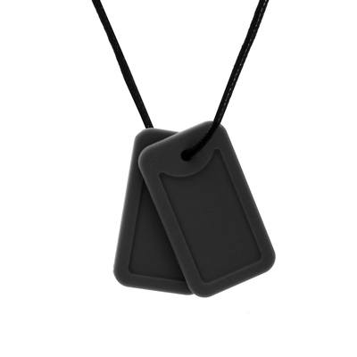 Dog-Tag style necklace - 'Commander' (Matt Black) - Chewigem
