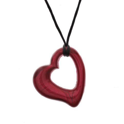 Heart Pendant - 'True Love' (Dark Red) - Chewigem