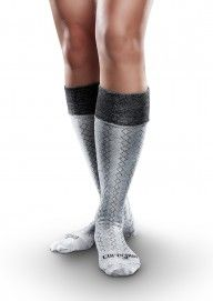 Patterned AFO Socks by SmartKnit for Adults - Core Spun - 1 pair pack