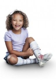 Patterned AFO Socks by SmartKnit for Kids - Core Spun - 1 pair pack.