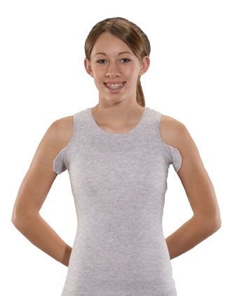 Seamless Unisex Vest - Torso Brace Interface - VNeck + Bilateral Axilla Flaps - Grey Or White - from